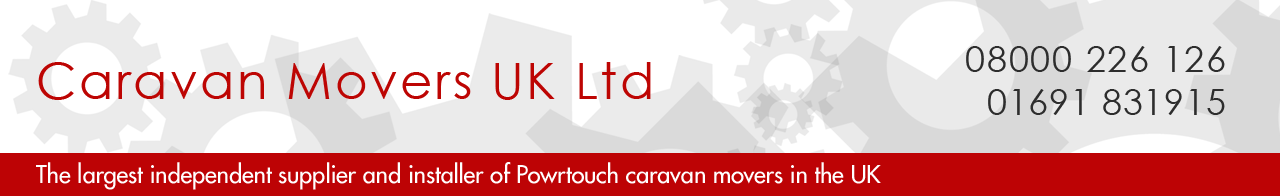 Powrtouch Caravan Movers supplied and fitted by Caravan Movers UK Ltd